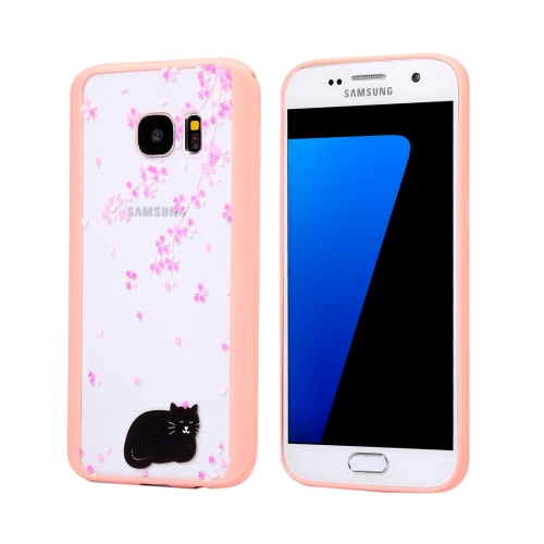 Buy For Samsung Galaxy S7 Edge / G935 Cherry Blossom Flower Pattern Transparent Plastic Protective Case for $1.48 in SUNSKY store