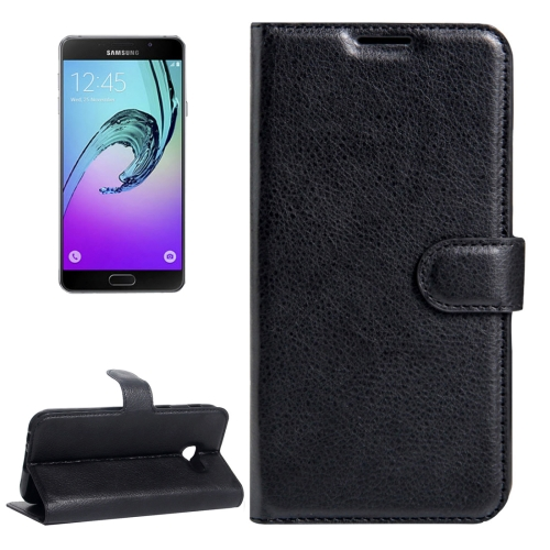 Buy For Samsung Galaxy A5, 2017 / A520 Litchi Texture Horizontal Flip Leather Case with Magnetic Buckle & Holder & Card Slots & Wallet, Black for $2.33 in SUNSKY store
