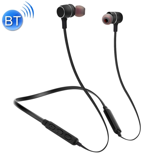 BTH-S8 Sports Style Magnetic Wireless Bluetooth In-Ear Headphones, For iPhone, Galaxy, Huawei, Xiaomi, LG, HTC and Other Smart Phones, Working Distance: 10m(Black)