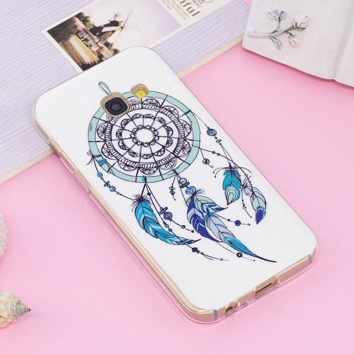 Buy For Samsung Galaxy A3, 2017 Noctilucent IMD Feather Dream Catcher Pattern Soft TPU Back Case Protector Cover for $1.41 in SUNSKY store