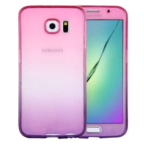 Buy For Samsung Galaxy S6 / G920 Double-sided Gradient Color TPU Protective Case Back Cover (Magenta + Purple) for $1.25 in SUNSKY store