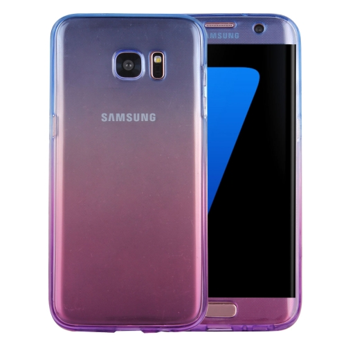 Buy For Samsung Galaxy S7 Edge / G935 Double-sided Gradient Color TPU Protective Case Back Cover (Blue + Purple) for $1.25 in SUNSKY store