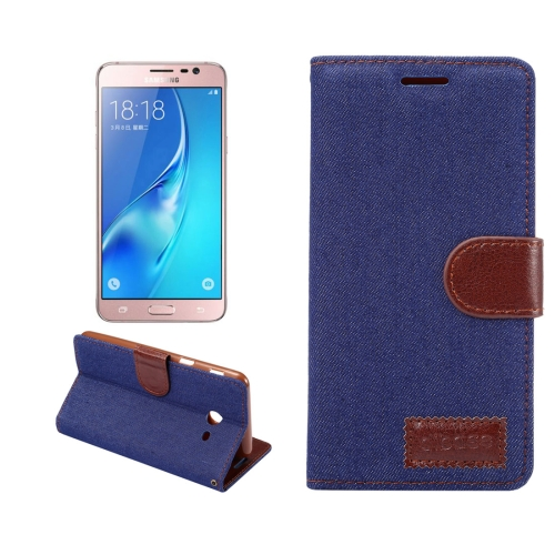 Buy For Samsung Galaxy J3, 2017 (US Version) Denim Texture Horizontal Flip Leather Case with Holder & Card Slots (Dark Blue) for $2.42 in SUNSKY store