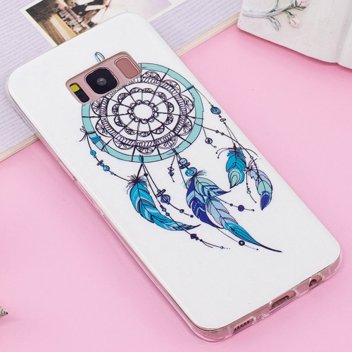 Buy For Samsung Galaxy S8 Noctilucent IMD Feather Dream Catcher Pattern Soft TPU Back Case Protector Cover for $1.40 in SUNSKY store