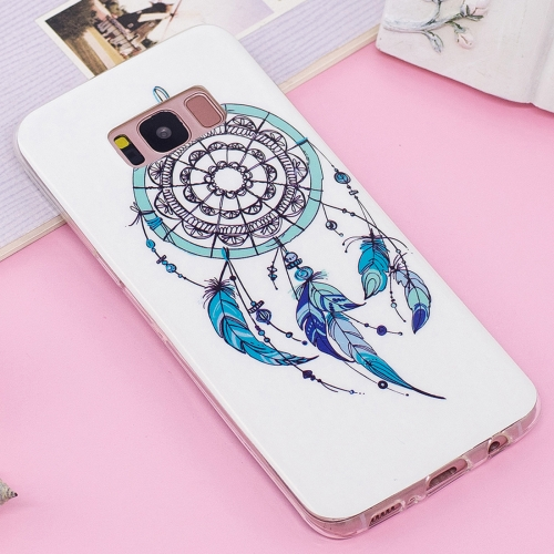 Buy For Samsung Galaxy S8+ Noctilucent IMD Feather Dream Catcher Pattern Soft TPU Back Case Protector Cover for $1.40 in SUNSKY store