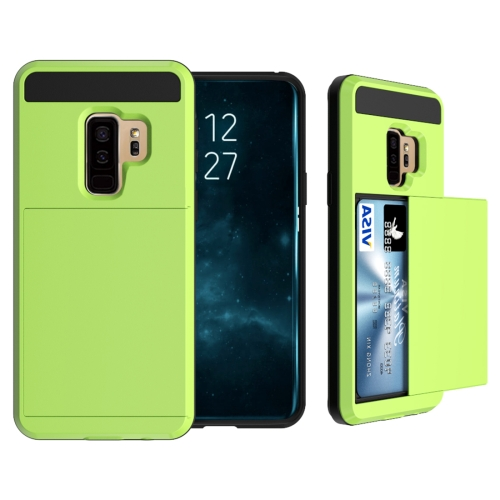 Buy For Samsung Galaxy S9+ Detachable Dropproof Protective Back Cover Case with Slider Card Slot, Green for $2.29 in SUNSKY store