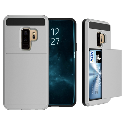 Buy For Samsung Galaxy S9+ Detachable Dropproof Protective Back Cover Case with Slider Card Slot, Grey for $2.29 in SUNSKY store
