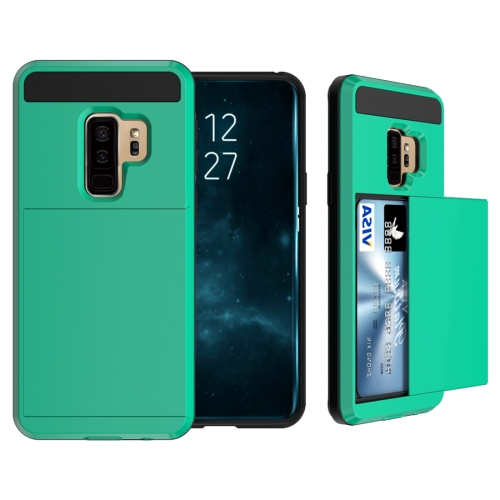 Buy For Samsung Galaxy S9+ Detachable Dropproof Protective Back Cover Case with Slider Card Slot, Blue for $2.29 in SUNSKY store