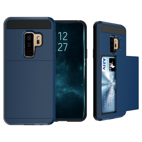 Buy For Samsung Galaxy S9+ Detachable Dropproof Protective Back Cover Case with Slider Card Slot (Navy Blue) for $2.29 in SUNSKY store