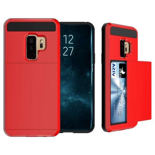 Buy For Samsung Galaxy S9+ Detachable Dropproof Protective Back Cover Case with Slider Card Slot, Red for $2.29 in SUNSKY store