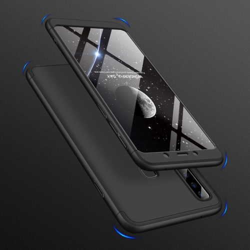 GKK Three Stage Splicing Full Coverage PC Case for Samsung Galaxy A9 (2018) / A9s (Black)