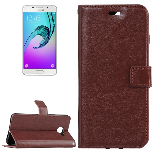 Buy For Samsung Galaxy A5 / A510 Crazy Horse Texture Horizontal Flip PU Leather Case with Holder & Card Slots & Wallet, Brown for $2.18 in SUNSKY store