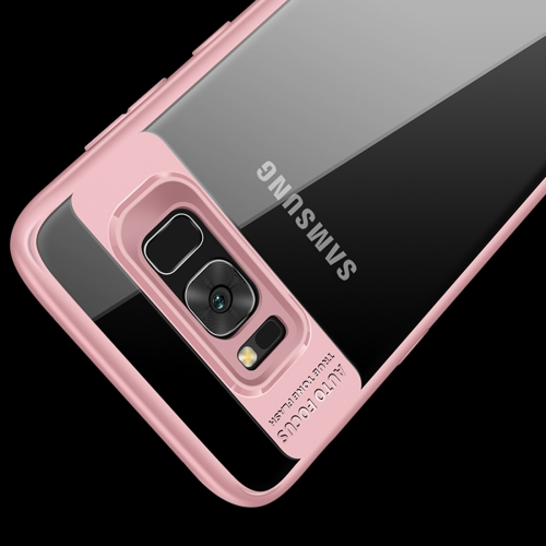 Buy CAFELE for Samsung Galaxy S8+ Ultra-thin TPU + PC Dropproof Clear Back Protective Case Cover, Pink for $2.91 in SUNSKY store