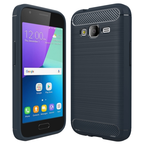 Buy For Smasung Galaxy J1 Mini Prime Brushed Carbon Fiber Texture Shockproof TPU Protective Case (Dark Blue) for $2.02 in SUNSKY store