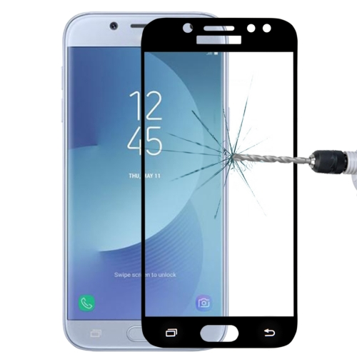 For Galaxy J5 (2017) (EU Version) 0.26mm 9H Surface Hardness 2.5D Curved Silk-screen Full Screen Tempered Glass Screen Protector (Black)
