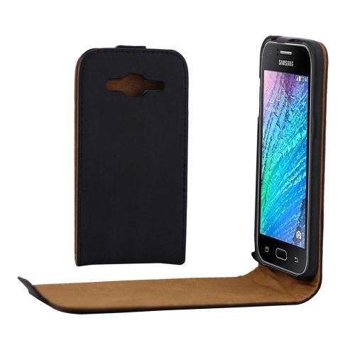 Buy For Samsung Galaxy J2, 2016 / J210 Khaki Lining Vertical Flip Leather Case, Black for $2.33 in SUNSKY store