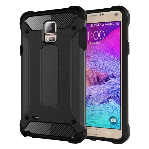 For Galaxy Note 4 / N910 Tough Armor TPU + PC Combination Case(Black)