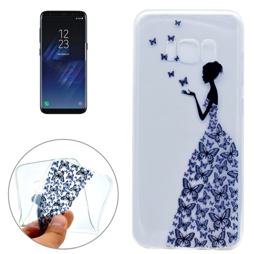 Buy For Samsung Galaxy S8 + / G955 Butterfly and Girl Pattern IMD Workmanship Soft TPU Protective Case for $1.22 in SUNSKY store