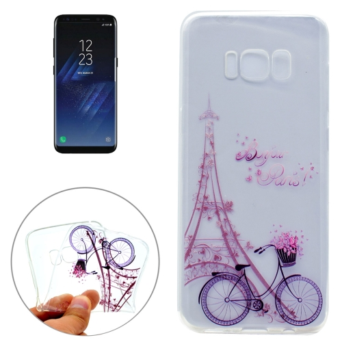 Buy For Samsung Galaxy S8 + / G955 Tower Bicyle Pattern IMD Workmanship Soft TPU Protective Case for $1.22 in SUNSKY store