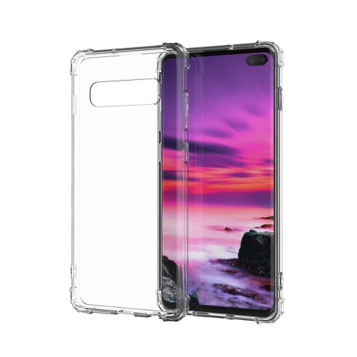 Transparent Shockproof TPU Case for Galaxy S10+(Transparent)