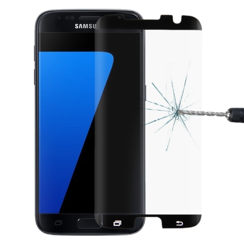For Galaxy S7 Edge / G935 0.26mm 9H Surface Hardness Curved Surface Non-full Screen Tempered Glass Film(Black)