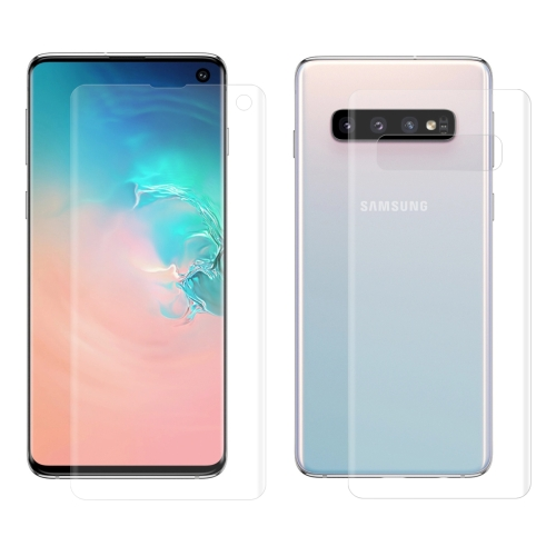 ENKAY Hat-Prince 0.1mm 3D Full Screen Protector Explosion-proof Hydrogel Film Front + Back for   Galaxy S10, TPU+TPE+PET Material (Transparent)