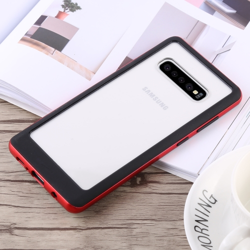 GOOSPERY New Bumper X Shockproof PC + TPU Case for Galaxy S10+ (Red)
