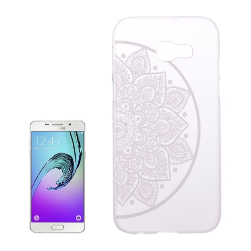 Buy For Samsung Galaxy A5, 2017 / A520 Right Half Flower Pattern Transparent PC Protective Case for $1.02 in SUNSKY store
