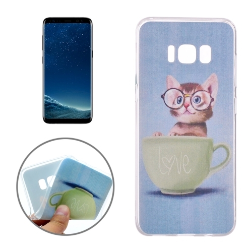 Buy For Samsung Galaxy S8 Glasses Cat Pattern TPU Protective Case for $1.16 in SUNSKY store