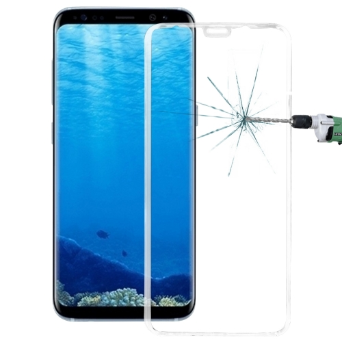 Buy For Samsung Galaxy S8 / G9500 0.3mm 9H Surface Hardness 3D Curved Surface Silk-screen Full Screen Tempered Glass Screen Protector, Transparent for $2.62 in SUNSKY store