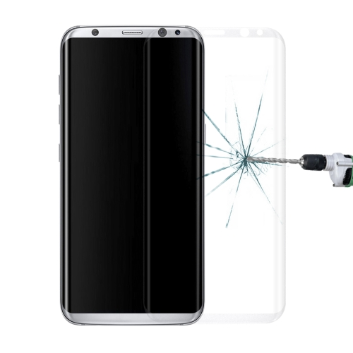 Buy For Samsung Galaxy S8 / G9500 0.3mm 9H Surface Hardness 3D Curved Surface Silk-screen Full Screen Tempered Glass Screen Protector, Translucent for $2.62 in SUNSKY store