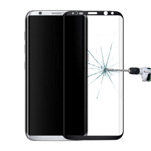 Full Screen Edge Glue Tempered Glass Screen Protector For Galaxy S8+ / G955(Black)