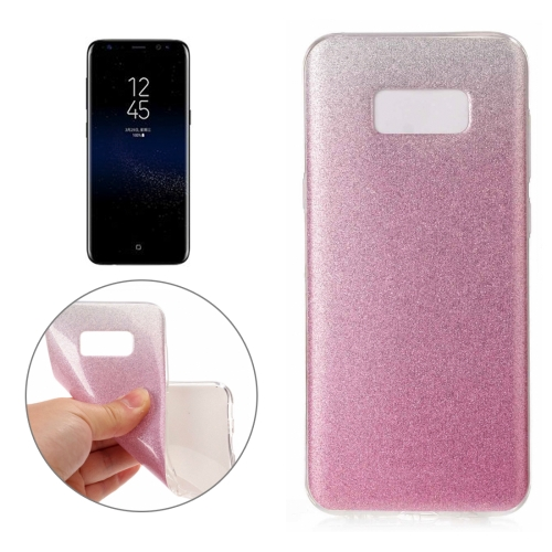 Buy For Samsung Galaxy S8 + / G955 Glitter Powder Protective Back Cover Soft Case, Pink for $1.41 in SUNSKY store