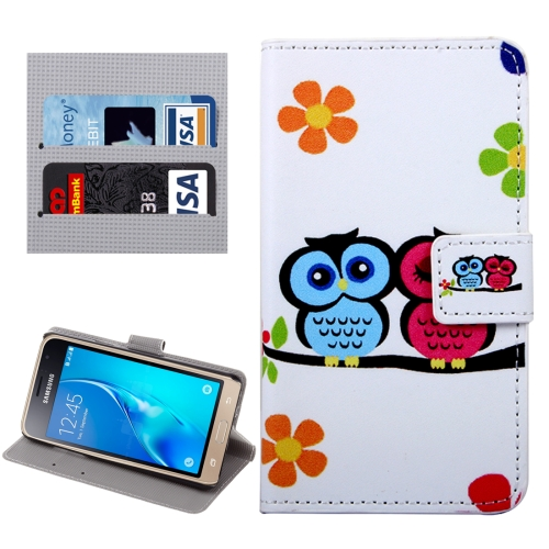 Buy For Samsung Galaxy J1, 2016 / J120 Lovers Owl Pattern Horizontal Flip Leather Case with Holder & Card Slots & Wallet for $2.32 in SUNSKY store