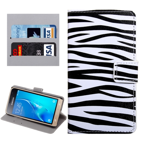 Buy For Samsung Galaxy J1, 2016 / J120 Zebra Pattern Horizontal Flip Leather Case with Holder & Card Slots & Wallet for $2.32 in SUNSKY store
