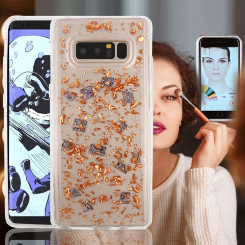 Buy For Samsung Galaxy Note 8 Anti-Gravity Nano-suction Technology Sticky Selfie Glitter Sequins Pattern TPU Protective Case (Rose Gold) for $3.20 in SUNSKY store