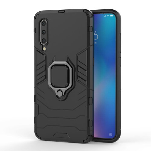 Panther PC + TPU Shockproof Protective Case for Galaxy A30 & A20, with Magnetic Ring Holder(Black) фото