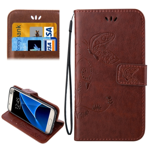 Buy For Samsung Galaxy S7 / G930 Crazy Horse Texture Printing Horizontal Flip Leather Case with Holder & Card Slots & Wallet & Lanyard, Coffee for $2.44 in SUNSKY store