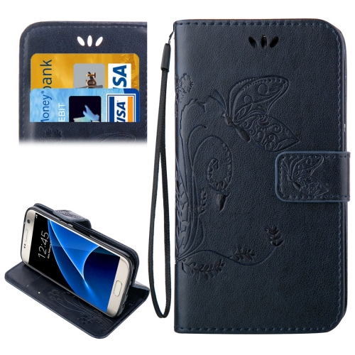 Buy For Samsung Galaxy S7 / G930 Crazy Horse Texture Printing Horizontal Flip Leather Case with Holder & Card Slots & Wallet & Lanyard (Dark Blue) for $2.44 in SUNSKY store