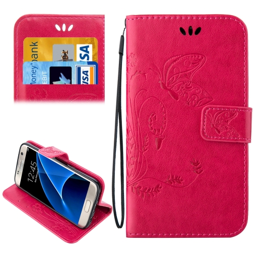 Buy For Samsung Galaxy S7 / G930 Crazy Horse Texture Printing Horizontal Flip Leather Case with Holder & Card Slots & Wallet & Lanyard, Magenta for $2.44 in SUNSKY store