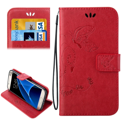 Buy For Samsung Galaxy S7 / G930 Crazy Horse Texture Printing Horizontal Flip Leather Case with Holder & Card Slots & Wallet & Lanyard, Red for $2.44 in SUNSKY store