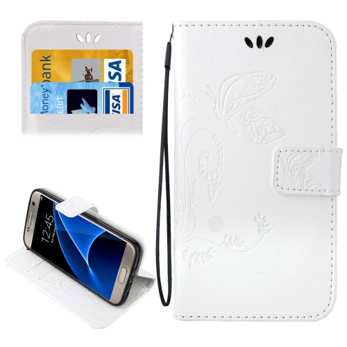 Buy For Samsung Galaxy S7 / G930 Crazy Horse Texture Printing Horizontal Flip Leather Case with Holder & Card Slots & Wallet & Lanyard, White for $2.32 in SUNSKY store