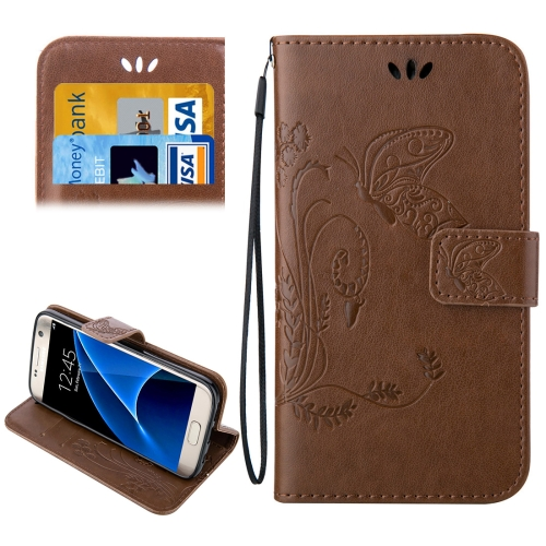 Buy For Samsung Galaxy S7 / G930 Crazy Horse Texture Printing Horizontal Flip Leather Case with Holder & Card Slots & Wallet & Lanyard, Brown for $2.44 in SUNSKY store