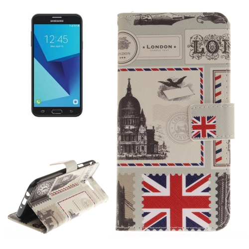 Buy For samsung Galaxy J7, 2017 (US Version) London Envelope Pattern Horizontal Flip Leather Case with Holder & Card Slots & Wallet for $2.56 in SUNSKY store
