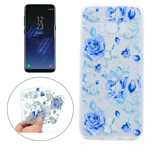 Buy For Samsung Galaxy S8 Colorful Blue Flower Pattern TPU Protective Case for $1.11 in SUNSKY store