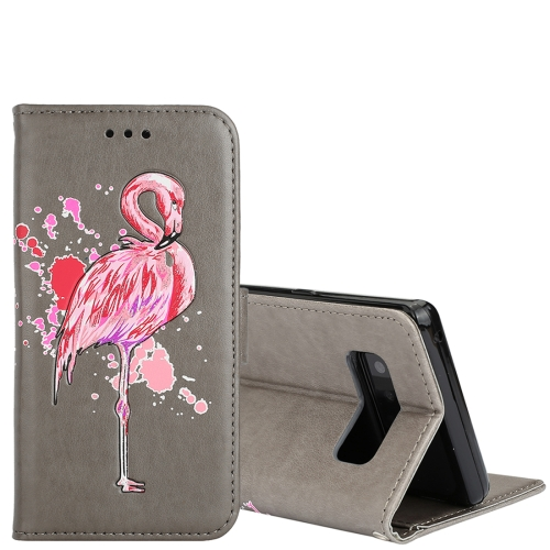 Buy For Samsung Galaxy Note 8 Glittery Powder Flamingo Print Horizontal Flip Leather Case with Holder & Wallet & Card Slots & Photo Frame, Grey for $2.67 in SUNSKY store