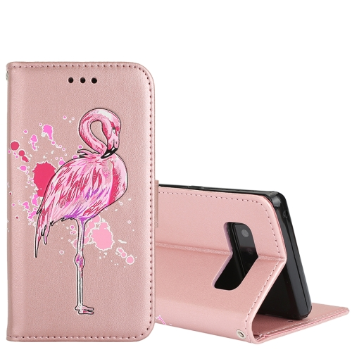 Buy For Samsung Galaxy Note 8 Glittery Powder Flamingo Print Horizontal Flip Leather Case with Holder & Wallet & Card Slots & Photo Frame (Rose Gold) for $2.67 in SUNSKY store