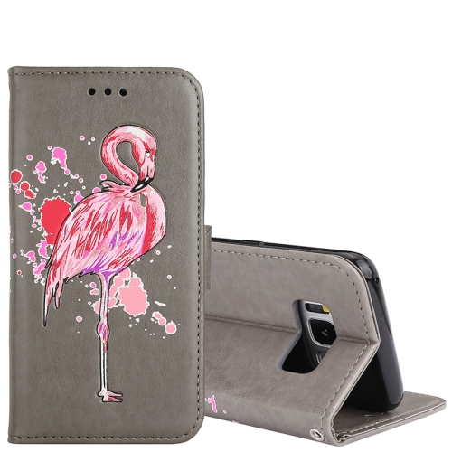 Buy For Samsung Galaxy S8 Glittery Powder Flamingo Print Horizontal Flip Leather Case with Holder & Wallet & Card Slots & Photo Frame, Grey for $2.67 in SUNSKY store
