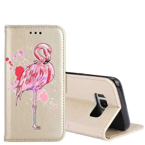 Buy For Samsung Galaxy S8 Glittery Powder Flamingo Print Horizontal Flip Leather Case with Holder & Wallet & Card Slots & Photo Frame, Gold for $2.67 in SUNSKY store