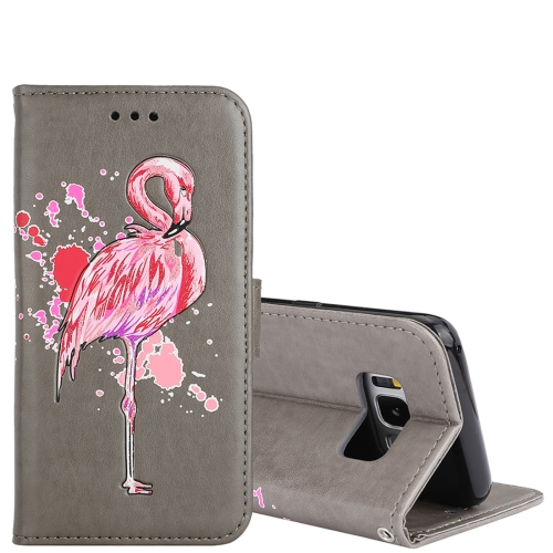 Buy For Samsung Galaxy S8+ Glittery Powder Flamingo Print Horizontal Flip Leather Case with Holder & Wallet & Card Slots & Photo Frame, Grey for $2.67 in SUNSKY store